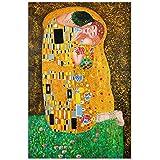 Arte Dal Mondo Pintura al Óleo sobre Lienzo Klimt Bacio