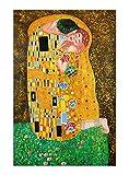 Arte Dal Mondo KL040IAT-02 Kuss Handgefertigte Ölgemälde auf Leinwand mit
