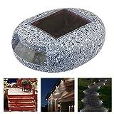 Luces de jardín con energía solar, impermeables, luz nocturna con forma de piedra para exteriores, luces solares para patio, terraza, patio, decoración de paisaje