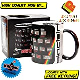 Sinclair Spectrum mug with free keyring - classic retro gaming - gift for him or her