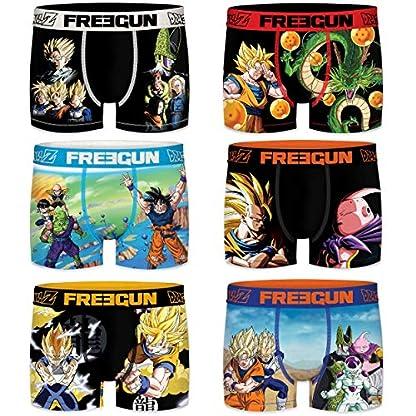 FREEGUN 14/16 Pack 6pcs Infantil Surtido Dragon Ball Z Talla 14/16 para Niños