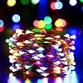 Yasolote, Solar Lichterkette Außen, Wasserdicht LED Außenlichterkette Kupferdraht, 10m 100 LED 8 Modi mit Lichtsensor