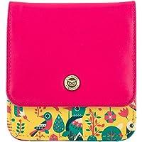 Chumbak Tropical Birds Pocket Wallet- Multi Color