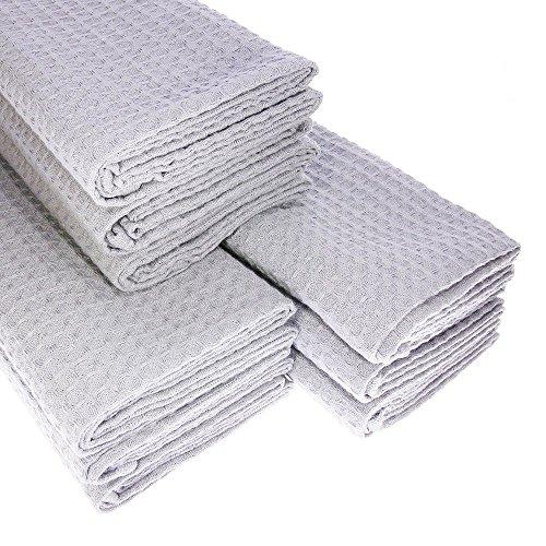 9-x-torchon-100-coton-pique-gaufre-en-argent-gris-clair-gastro