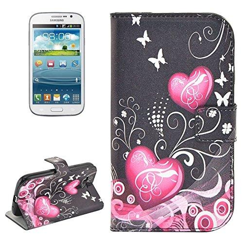 Schützen Sie Ihr Mobiltelefon Blumenmuster Flip Leder Tasche mit Halter & CardSlots für Samsung Galaxy Grand Duos / i9082, Neo Plus / i9060 für Samsung Handy ( SKU : S-SCS-4030B ) (S Samsung 1 Galaxy Fälle)