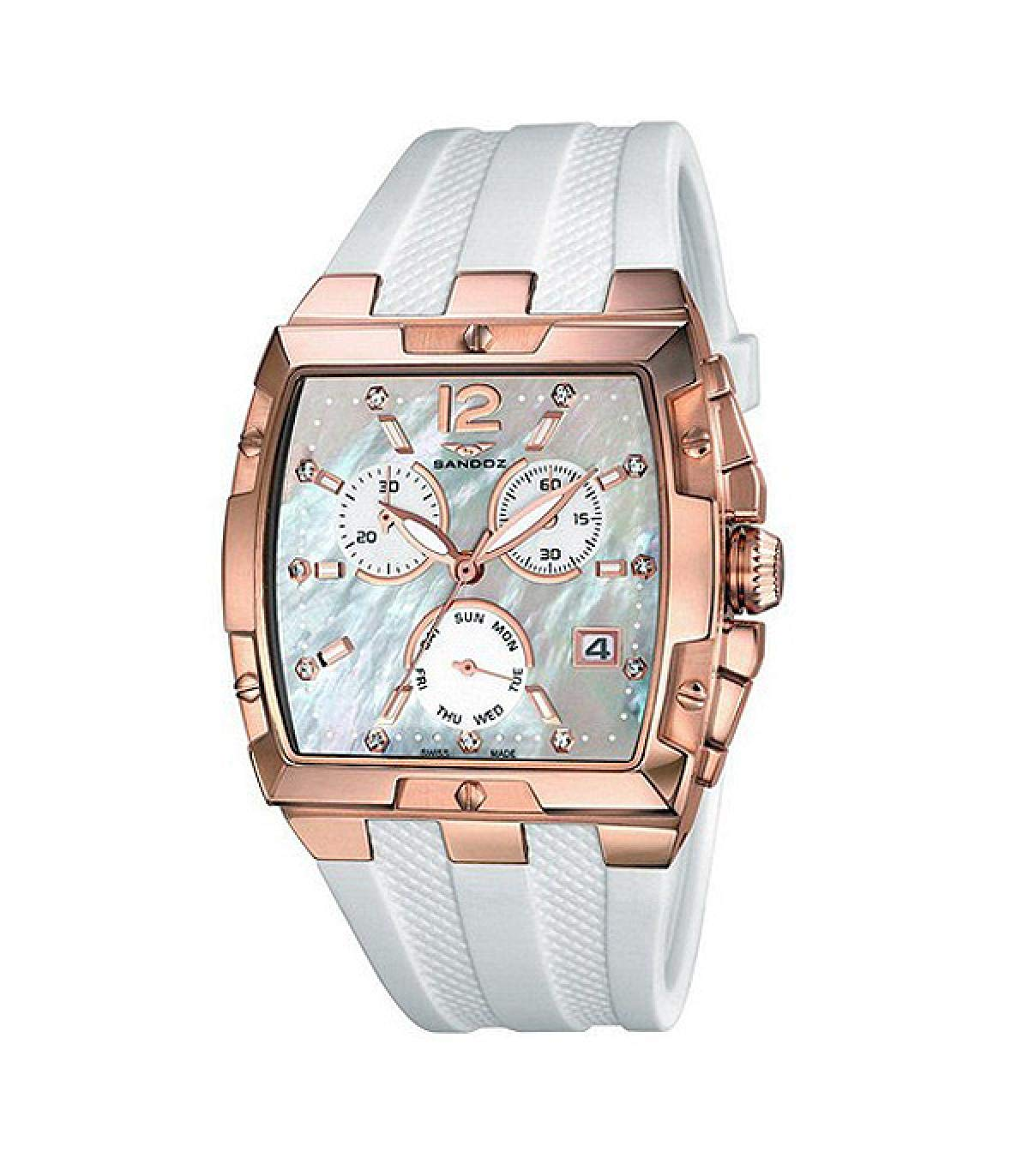 Sandoz Reloj Analog-Digital para Womens de Automatic con Correa en Cloth S0330959