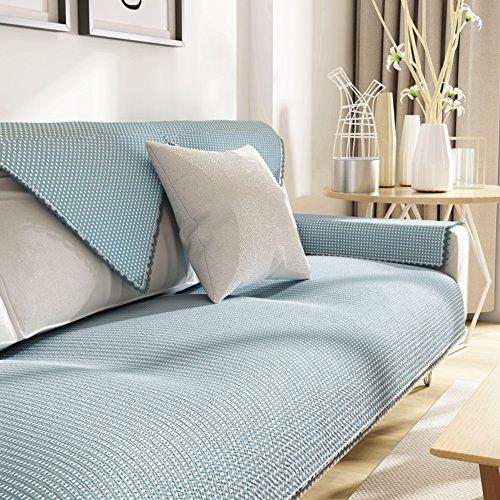 Kfhiwuehpjhd lino copridivano,divano copre per divano in pelle quattro stagioni intercambiabile moderno semplice anti-scivolamento copridivano per il salone-a 90x160cm(35x63inch)