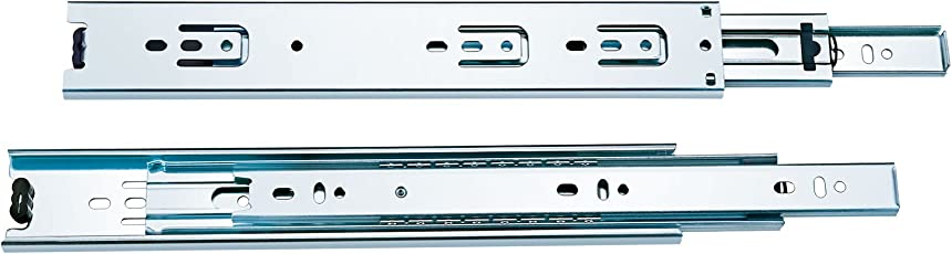 Now & Ever Jmd Telescopic Drawer Channel 20 Inches , Silver-1 Set