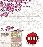 galleryy.net 100 Ballonflugkarten zur Hochzeit GELOCHT, PORTOFREI möglich, Flugkarten für Hochzeitsballons im Set zum Hochzeitsspiel im Ballonflugkartenset - Hochzeit mit Blumen