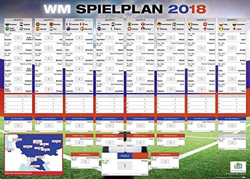 Blick Studio (Fußball WM Spielplan 2018 in Russland | Mit allen Gruppen und Spielen | XXL-Poster (100 x 140 cm))