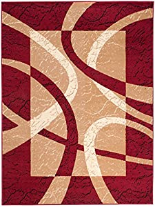 Area Rugs For Living Room Bedroom Red Modern Pattern Striped Size S - XXL from TAPISO RUGS UK