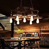 Lampe Suspension Rétro Équipement Industriel Lampe Suspendue E27 * 7 Hauteur Réglable Bar Restaurant Salon Éclairage Lustre D