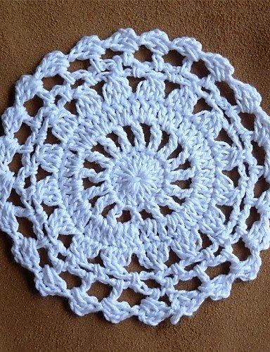 Erica Set di 24, rotondi Crochet centrini Coaster per il matrimonio decorazioni per la casa , holiday-round
