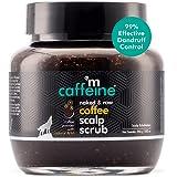 mCaffeine Naked & Raw Coffee Scalp Scrub, 250 gm | Dandruff Control, Scalp Exfoliation | Natural AHA | All Hair Types | Sulph