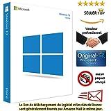 Windows 10 Home(Famille) 32/64 Bits Licence | Français | Clé d'activation originale et livraison gratuite par e-mail | Assistance et instructions (Satisfait ou remboursé)