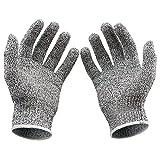 Casa Bonita Schnittschutzhandschuhe der Küche mit Handschuhe für Arbeiten und Sicherheit Handschuhe Hoher Schutz von Stufe 5 Packung mit 1 Paar
