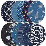 Toppa termoadesiva per jeans, confezione da 24pezzi 12modello denim toppa toppe per ragazze bambini DIY jeans abbigliamento giacche borse termoadesivo fiore kit di riparazione, 12,7x 9,5cm Oval