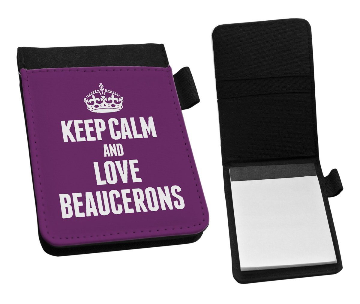 Duke Gifts PURPLE Keep Calm and Love Beaucerons Small Notepad 1977