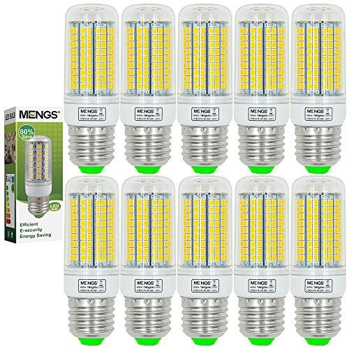 MENGS® 10 Stück E27 LED Lampe 15W AC 220-240V Warmweiß 3000K 180x2835 SMD