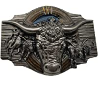 Longhorn Cowboy Cowgirl Bull Rodeo Western Texas Belt Buckle
