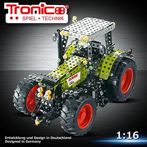 Metallbaukasten, CLAAS AXION 850, Traktor, 1012 Teile, Tronico, Baukasten inklusive Werkzeug