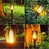Openuye Solar Lights,Waterproof 96 LED Flickering Flames Torches Lights Garden Pathway Outdoor Landscape Decoration Dancing Flame Lighting,Pack of 4 …