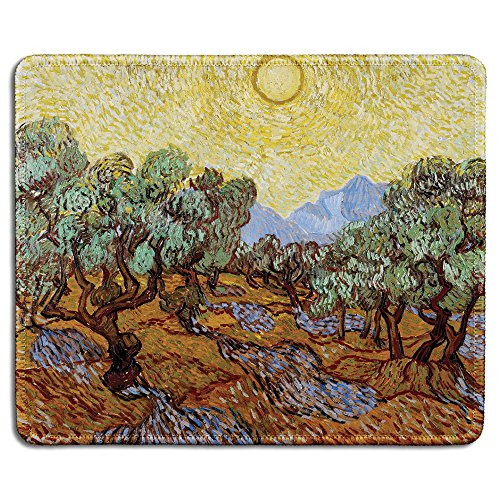 Creative Gummi Maus Pads Olive Trees with Yellow Sky and Sun Olive Pad