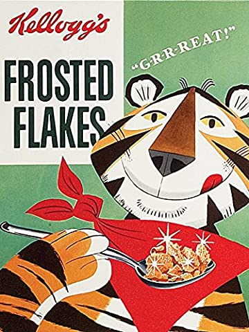 Kellogg's Frosted Flakes 40x 50cm Toile, multicolore