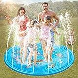 Aitere Splash Pad, Sprinkler Play Matte, Wasserspielmatte Garten, Sommer Garten Wasserspielzeug Kinder Baby Pool Pad Spritzen für Outdoor Familie Aktivitäten/Party/Strand/Garten