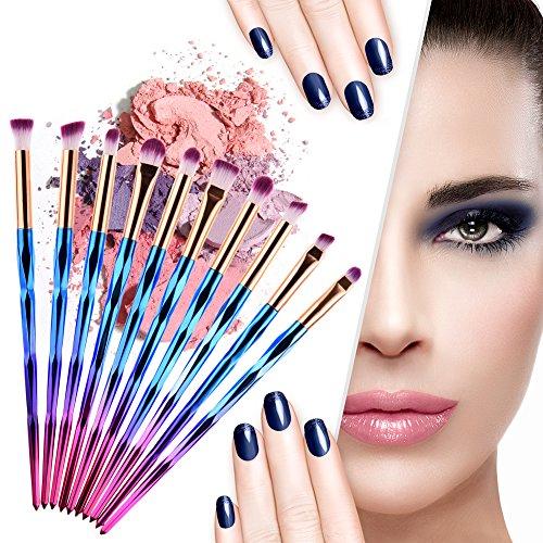 10 pcs Lot de brosse de maquillage visage kit professionnel Cosmétique œil Fusion de fond de teint Pinceaux Maquillage Ombre Outil de cosmétiques Ombre à paupières poudre Beauty Tools