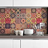 Ambiance Live COL-Ros Tiles A912_ 15x 15cm di piastrelle, Multicolore, 15x 15cm, Set, 30pezzi