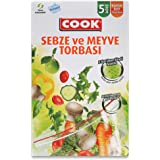 Cook Kilitli Torba Sebze Meyve Torbası 25 x 29 cm 5 Adet