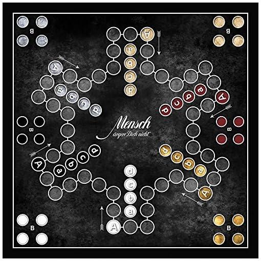 Schmidt-Spiele-49290-BLACK-Mensch-rgere-Dich-nicht-Brettspiel