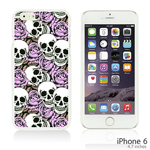 OBiDi - Skull Pattern Hardback Case / Housse pour Apple iPhone 6 / 6S (4.7 inch)Smartphone - Skull With Beard Skull With Purple Roses