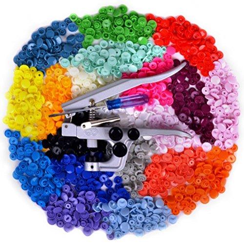 Tinksky KAM professionale chiusura a scatto pinze 300pcs 20 colori T5 Poppers Snap pulsanti plastica Kit