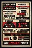 Fight Club Poster Rules (66x96,5 cm) gerahmt in: Rahmen schwarz