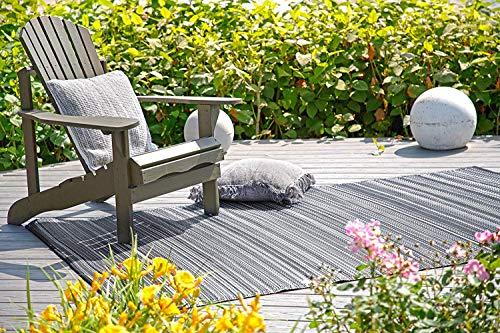 Fab Hab - Cancun - Midnight Grey - Teppich/ Matte für den Innen- und Außenbereich (180 cm x 270 cm) -