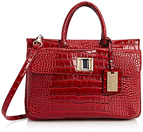 SwankySwans Bedford Patent Leather Business, sacoche ordinateur portable femme - Rouge - Rouge,