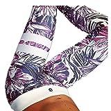 Morbuy Damen Leggings Sporthose, Sport Gym Yoga Workout Pants Basic Fitness Hohe Taille Jogginghose Trainingshose Skinny Hosen Hose Camouflage Stitching Perspektive schwarz (M, Rot)