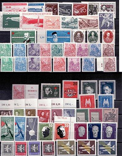 Briefmarken DDR 1957 kompletter Jahrgang inkl. Fünfjahresplan V+ VI, Postfrisch **