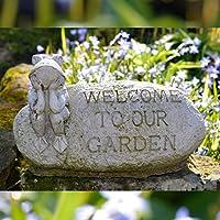 Welcome Rana, decorazione da giardino in pietra Scultura/Statua//Home Sign