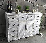 Livitat® Kommode Sideboard 113 x 78 cm Anrichte Landhaus Shabby Chic Vintage Weiß LV1005