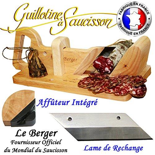 Guillotine à Saucisson Traditionnelle Le Berger AFFUTEUR INTEGRE & Lame de rechange Offerte Garantie 3 ans