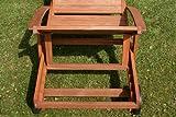 Hecht Sonnenliege - ERA -, Gartenliege, Holzliege, Liege aus Meranti Holz - 5