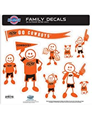 NCAA Oklahoma State Cowboys Family Character Decals, Large