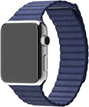 Genuine Leather Loop Type Watch Band Strap For Apple Watch 42mm