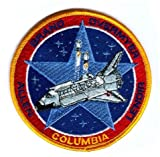NASA COLUMBIA Allen Brand Overmyer Lenoir Yellow Border Embroidered Badge Patch Sew-on or Iron-on 10cm