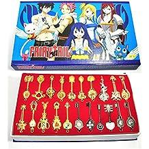 CoolChange caja de colección con 21 llaves de Fairy Tail