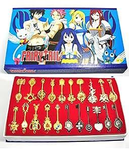 CoolChange scatola da collezione con 21 chiavi della serie Fairy Tail