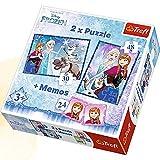 Trefl 90617 - Puzzles 2-in-1 Die Eiskönigin - Schwestern mit Memory